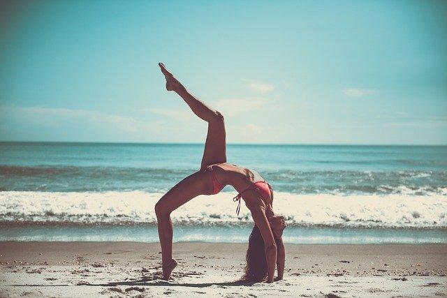 Flexible woman