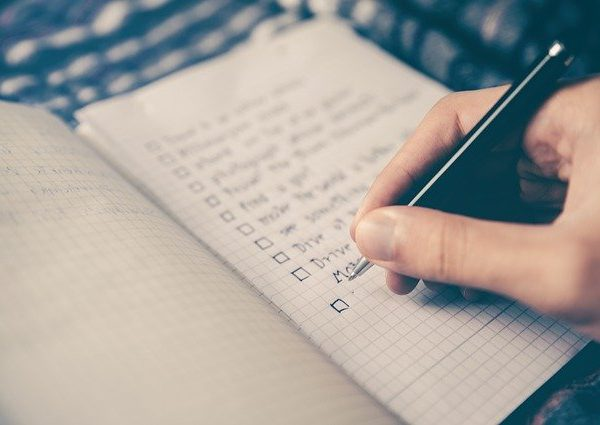 a checklist of questions