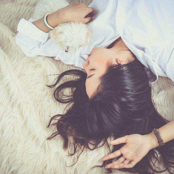 Girl in deep sleep